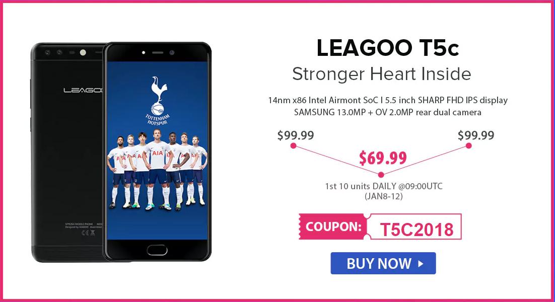 Скидки до 50% на смартфоны Leagoo в магазине Gearbest
