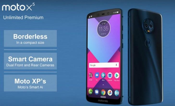 Moto X5 на рендере: четыре камеры и вырез от iPhone X