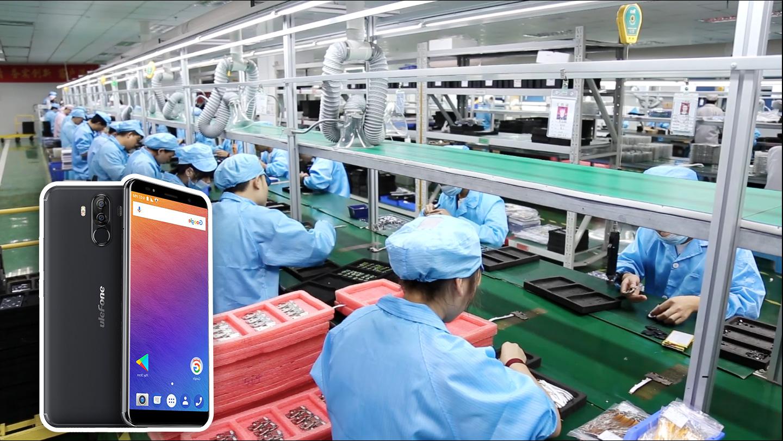 Как собирают Ulefone Power 3 в Китае