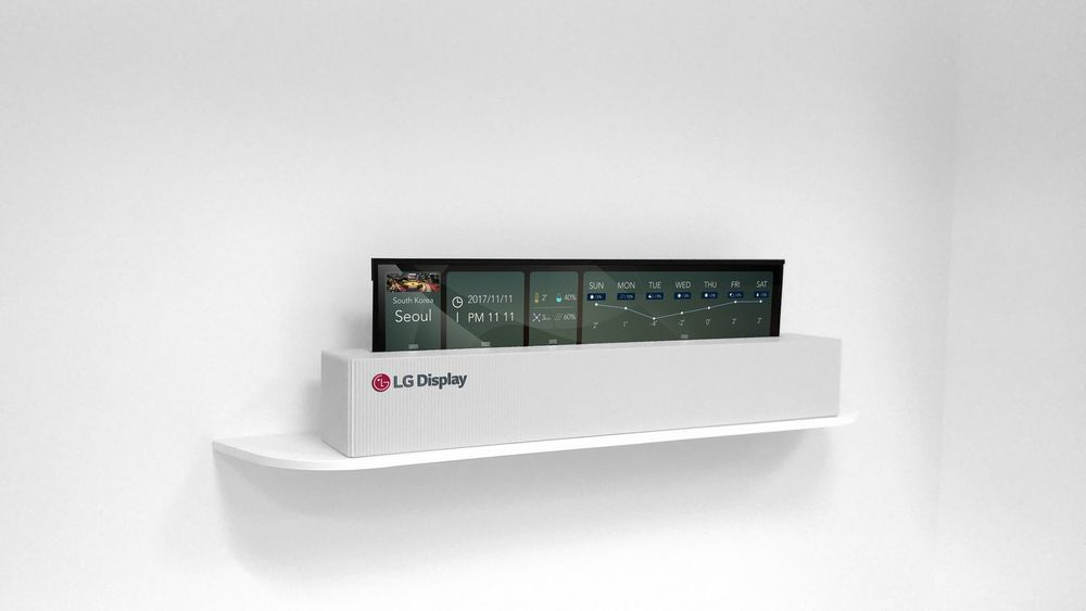 LG сворачивает телевизор в рулон на выставке CES 2018