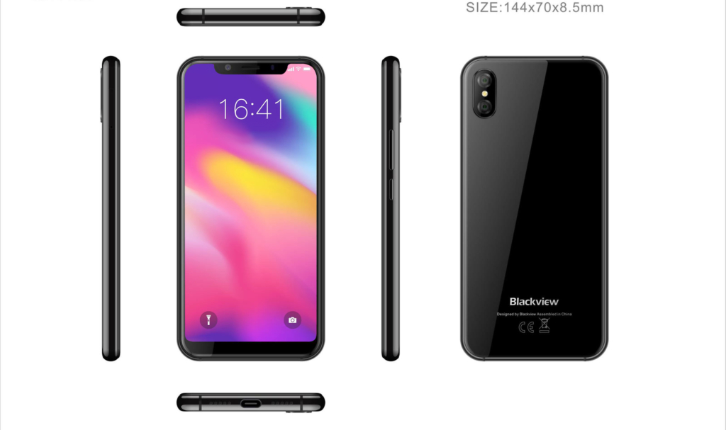 Android-смартфон с дизайном iPhone X