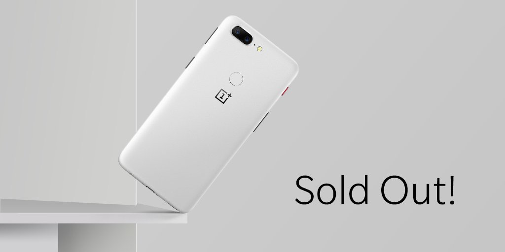 OnePlus 5T Sandsone был распродан всего за 2 часа