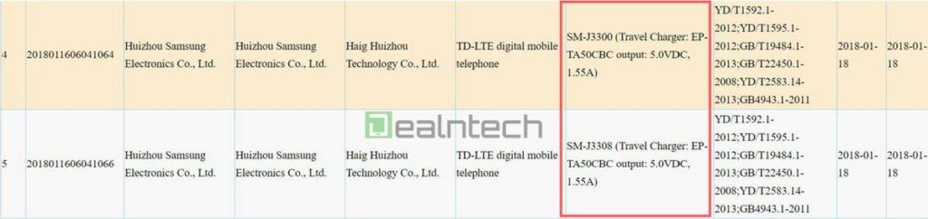 Samsung Galaxy J3 (2018) сертифицирован в Китае