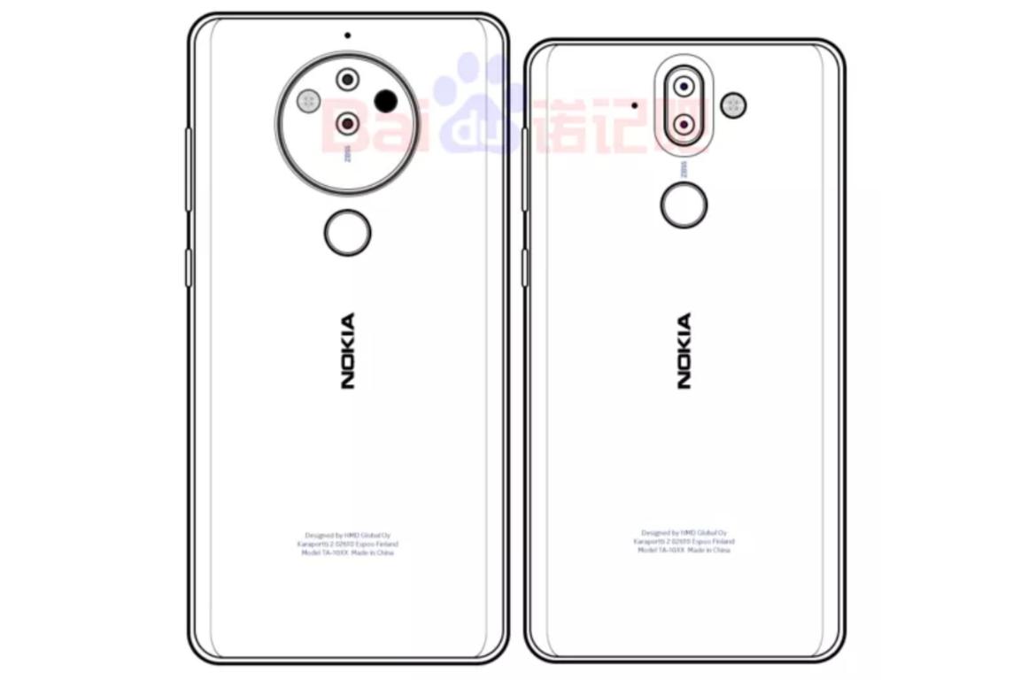 Эскиз Nokia 10 с 5-линзовой камерой