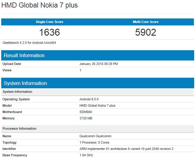 Nokia 7 Plus: прокаченный вариант Nokia 7