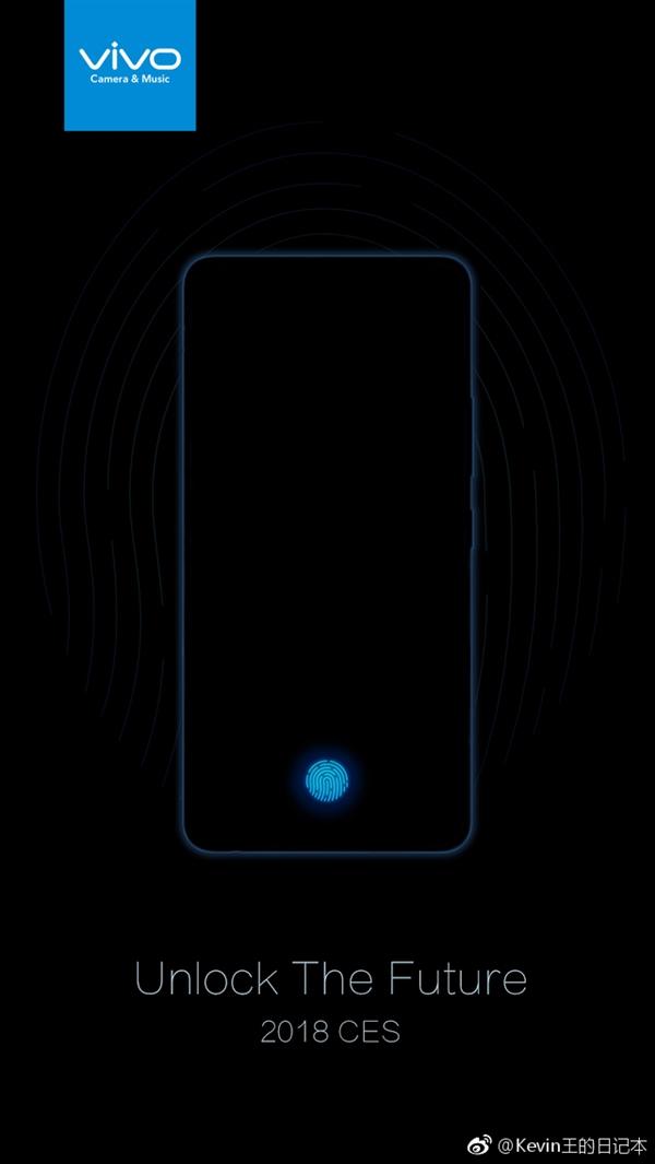 Названа дата анонса на CES 2018 первого смартфона Vivo с дисплейным сканером отпечатков