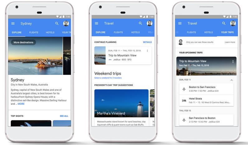 Google упрощает регистрацию отелей и авиабилетов