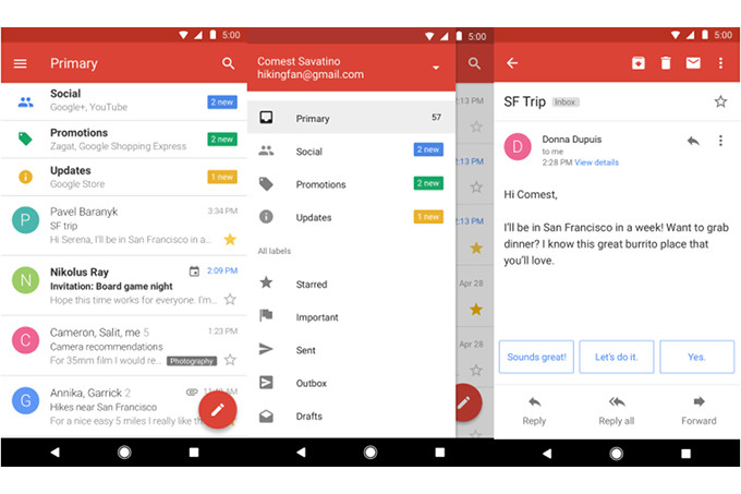 В семейство приложений Android Go добавлен облегченный клиент Gmail