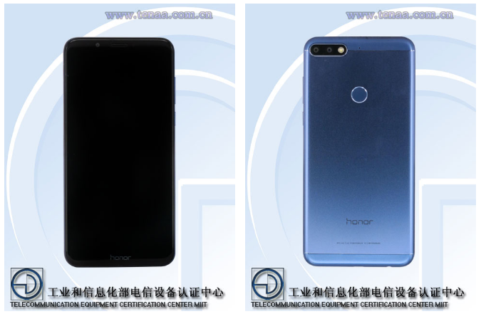 Honor 7C: характеристики смартфона с сайта TENAA