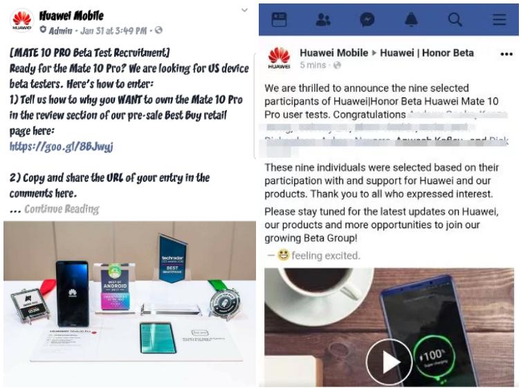 Компанию Huawei уличили в заказе фальшивых отзывов на смартфон Mate 10 Pro