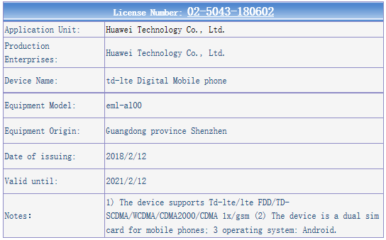 Серия Huawei P20 была замечена в TENAA