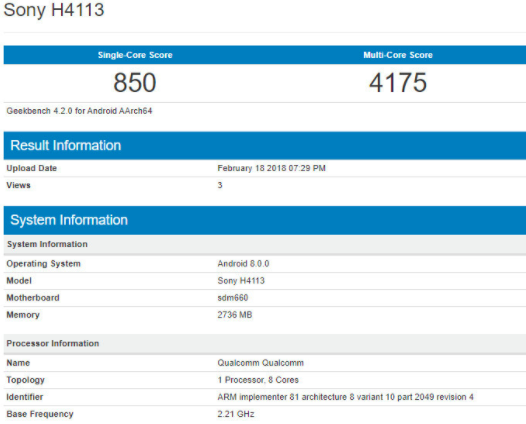 Sony готовит три смартфона с Snapdragon 660