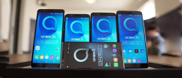 Презентация смартфонов Alcatel 5, 3V, 3X, 3 и 1X