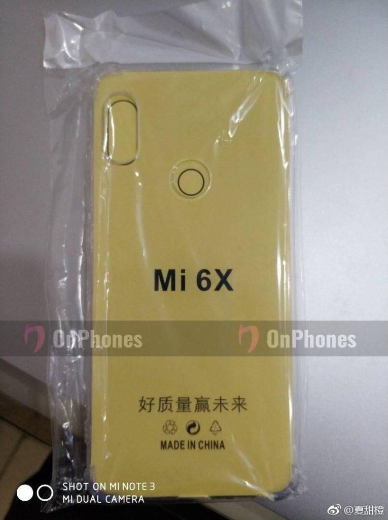 Для Xiaomi Mi 6X уже есть чехлы в китайской рознице