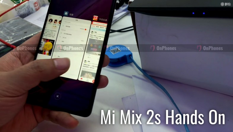 Xiaomi Mi Mix 2S впервые на видео