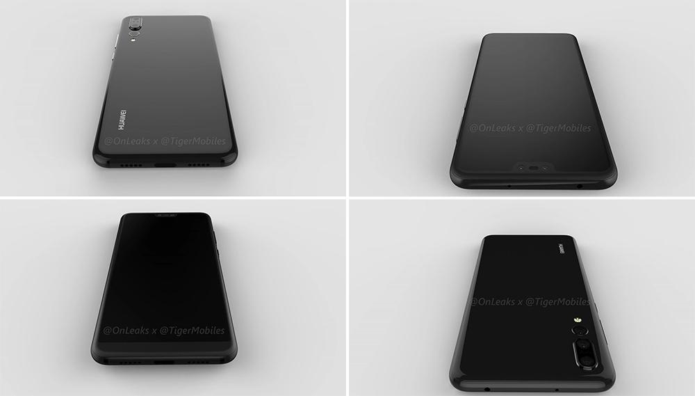 Качественный 3D-рендер Huawei P20 Plus, который совершенно непохож на версию Lite