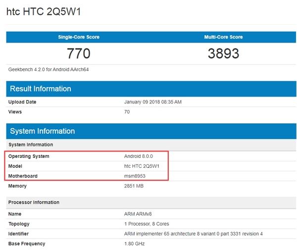 HTC готовит два смартфона на процессорах MediaTek и Qualcomm