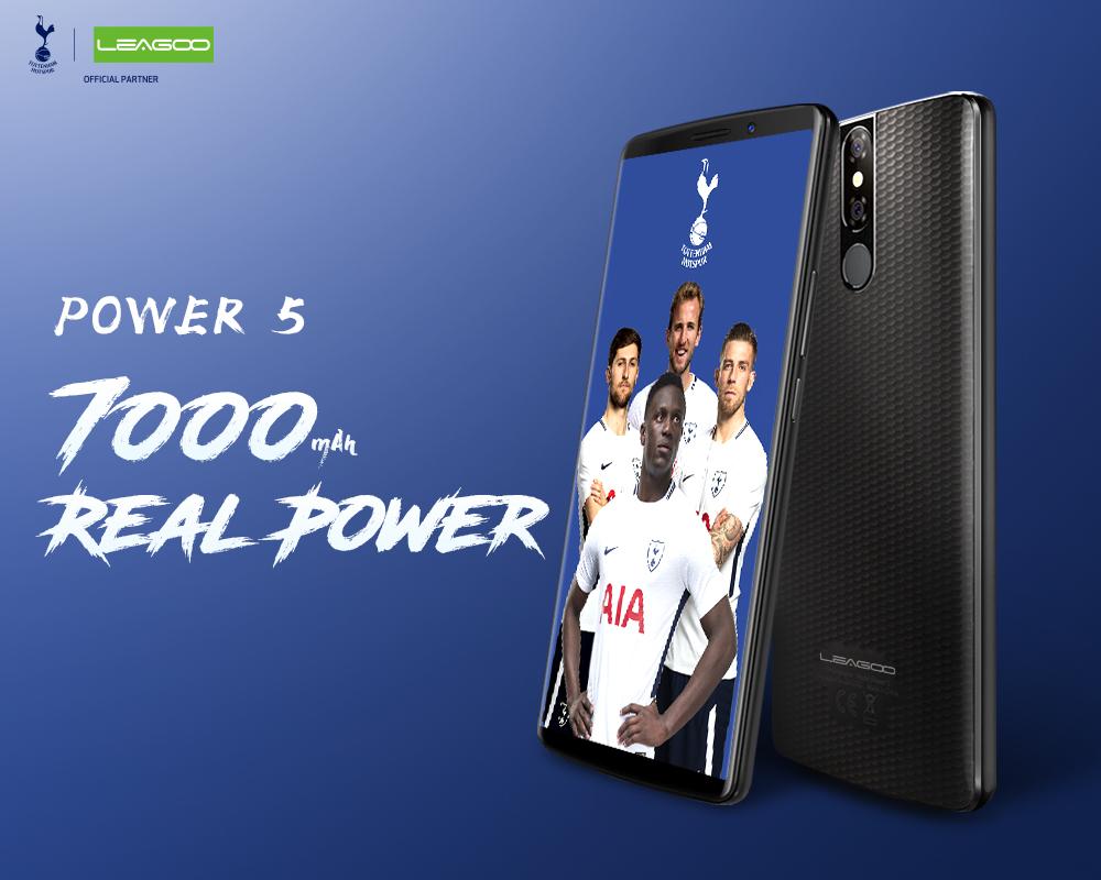 Leagoo Power 5 — большой аккумулятор на 7000 мАч и дисплей 18:9