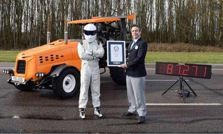 Стиг из Top Gear поставил новый мировой рекорд скорости на тракторе. ВИДЕО