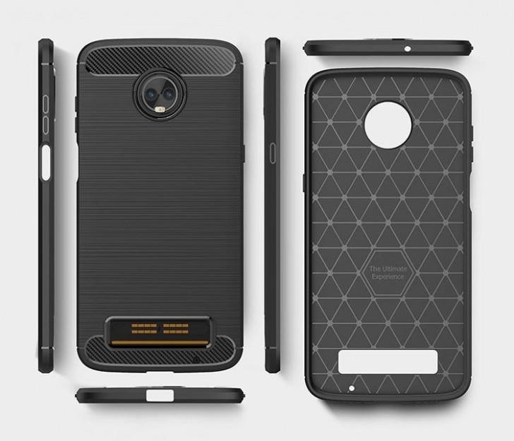 Чехол демонстрирует дизайн Moto Z3 Play