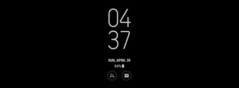 Samsung добавляет поддержку анимации в Always On Display