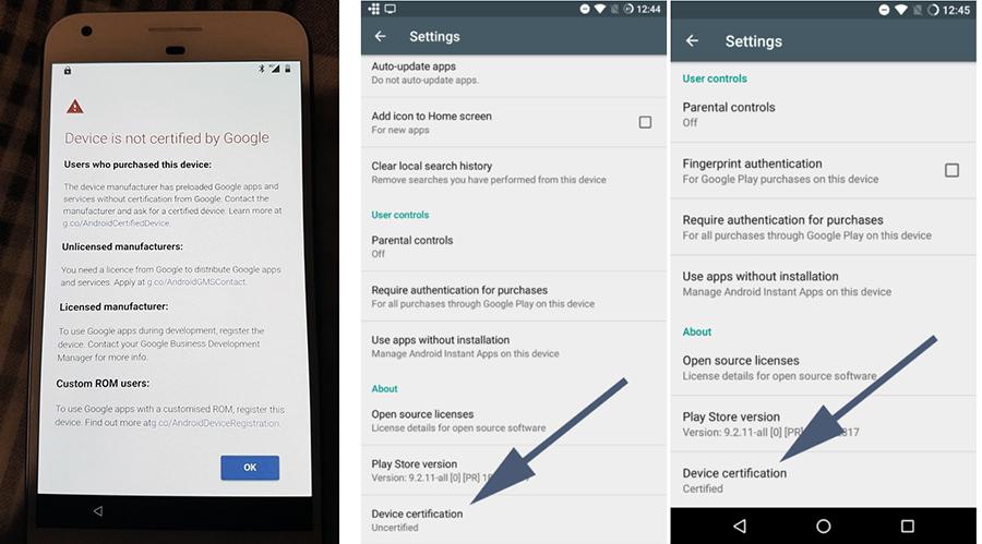 Android начал блокировать использование GApps на несертифицированных прошивках