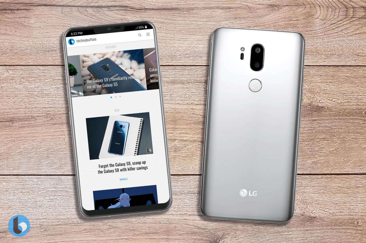 Дизайн LG G7 (G710) на рендерах