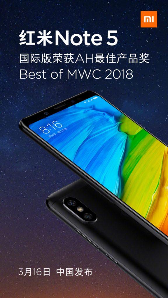 Названа дата релиза Xiaomi Redmi Note 5 в Китае