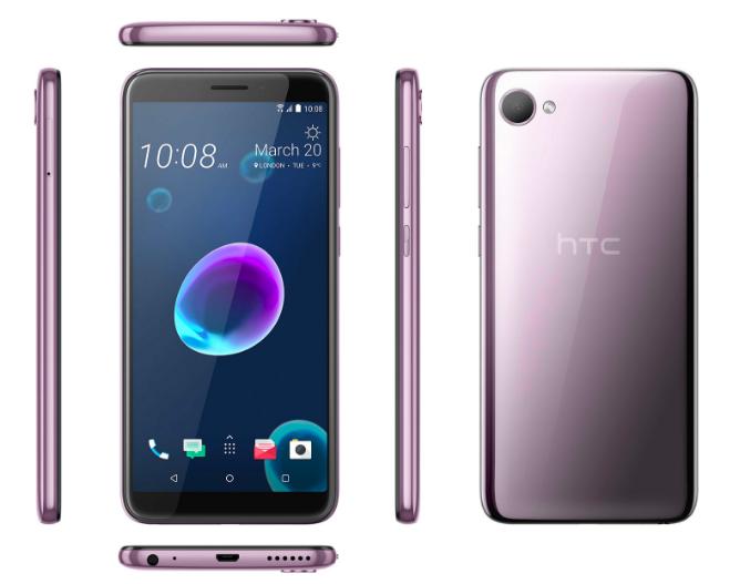 Представлены стильные HTC Desire 12 и Desire 12+