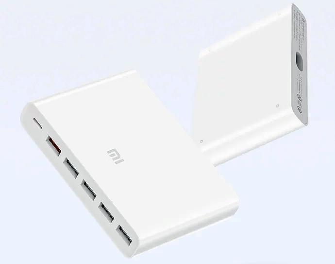 Xiaomi выпускает зарядное устройство на 6 портов мощностью 60 Вт