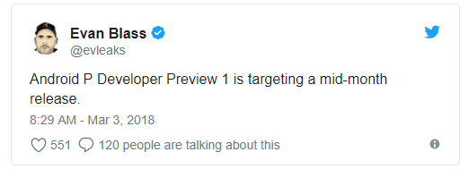 Android 9.0 Developer Preview будет представлен уже в середине марта