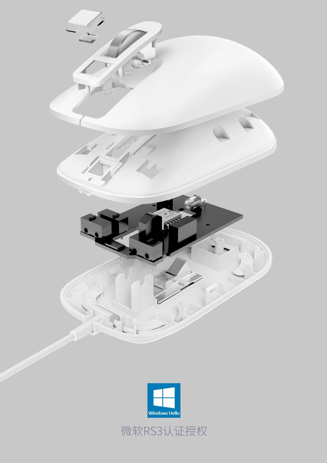 Xiaomi демонстрирует мышку со встроенным сканером отпечатка пальца