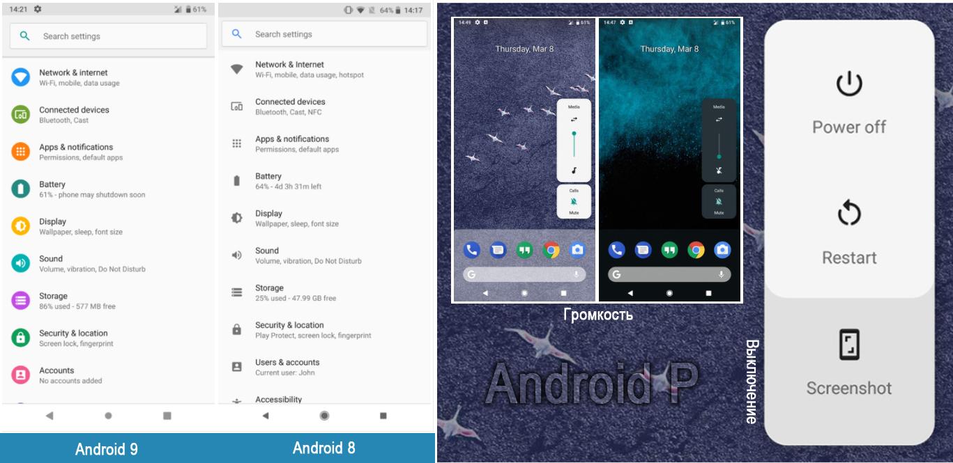 Обнаружены новые функции Android P Developers Preview 1