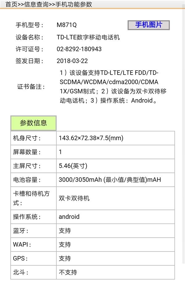 Серия Meizu 15: изображения и характеристики с сайта TENAA