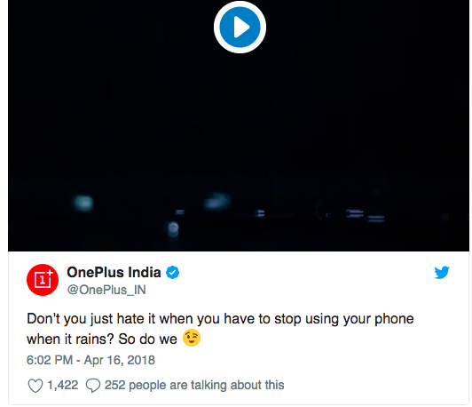 OnePlus 6 получит водозащиту