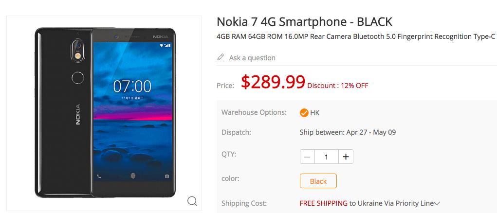 Nokia 7 и ASUS ZenFone 5 по привлекательным ценам в магазине Gearbest