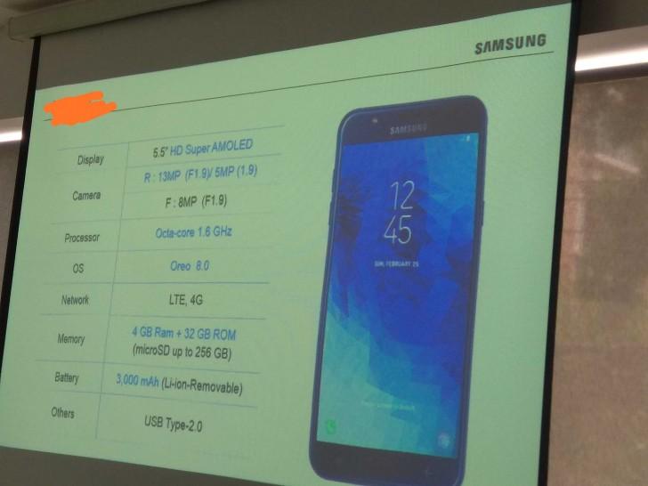 Назвали характеристики Samsung Galaxy J7 Duo