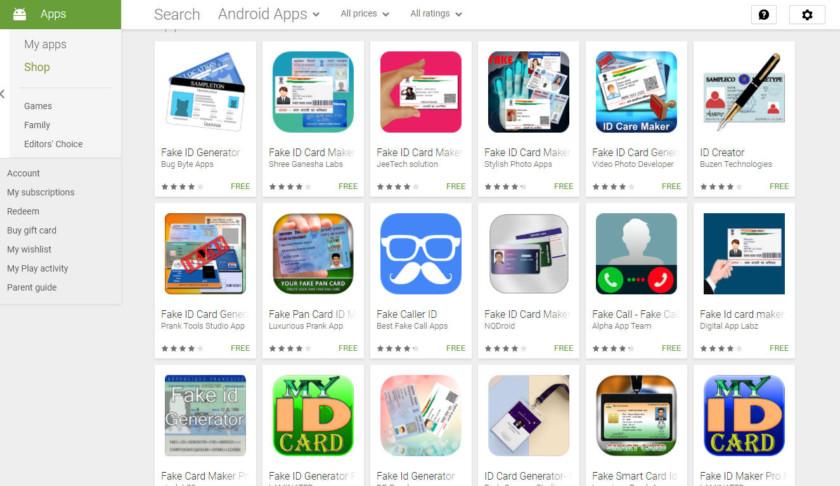 Google Play объявляет войну приложениям для создания поддельных данных