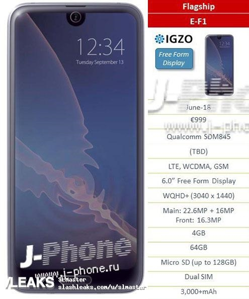 Sharp выпустит для Европы 5 разноплановых и дорогих смартфонов