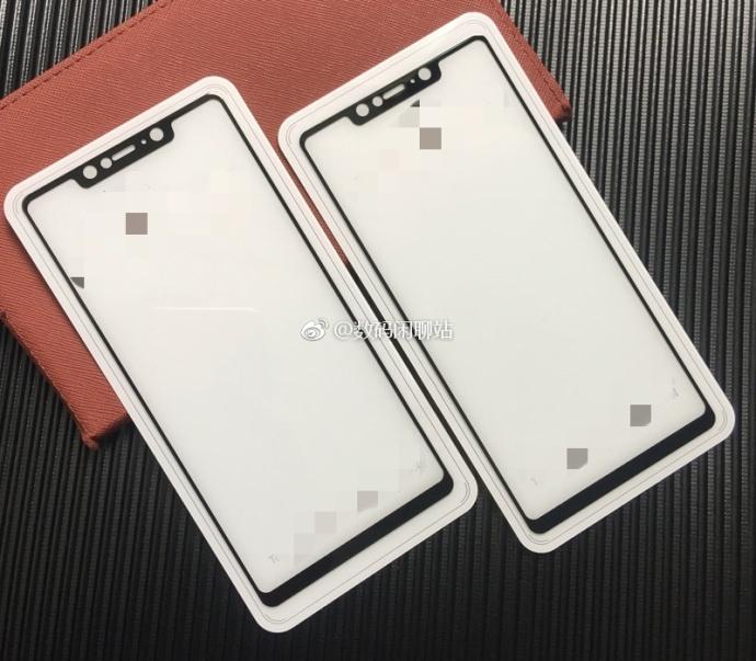 Фронтальная панель Xiaomi Mi7 с выемкой на снимках