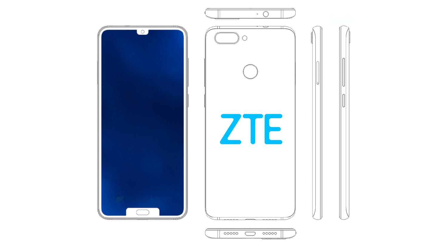 В привычку ZTE входит впечатлять дизайном. Вот вам смартфон с двумя выемками