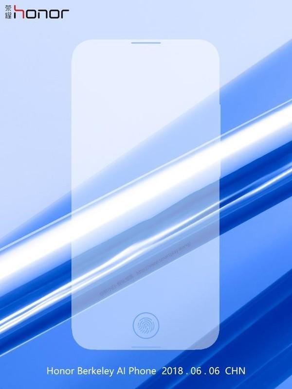 Honor готовит к выходу максимально безрамочный смартфон с дисплейным сканером отпечатков пальцев