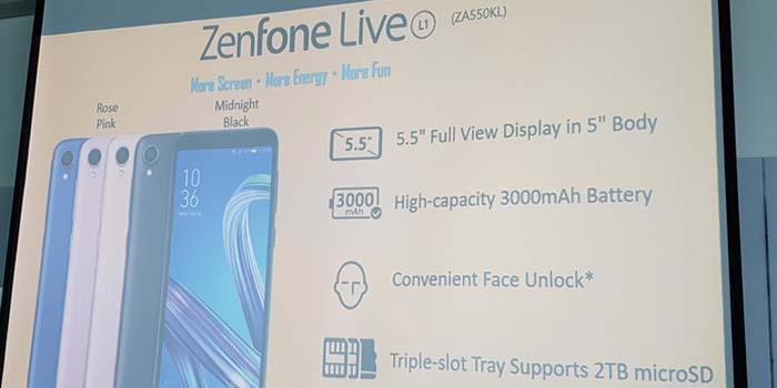 Представлен ASUS Live L1 — смартфон начального уровня