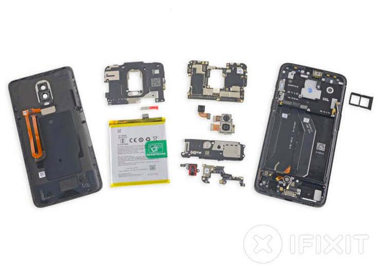 OnePlus 6 стал более сложным в ремонте, чем OnePlus 5T