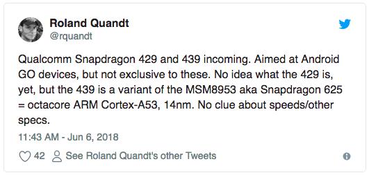 Qualcomm готовит чипы Snapdragon 429 и Snapdragon 439