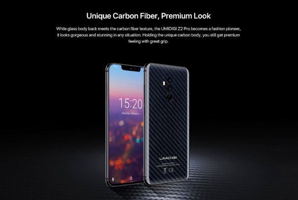 UMIDIGI Z2 Pro получит версию с карбоновой задней панелью и компания ищет тестеров смартфона