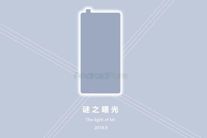 Тизер Xiaomi Mi Mix 3 с выдвижной камерой
