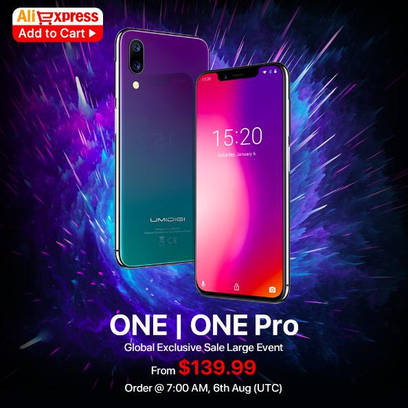 UMIDIGI One и One Pro на AliExpress с 6 августа по цене от $139,99