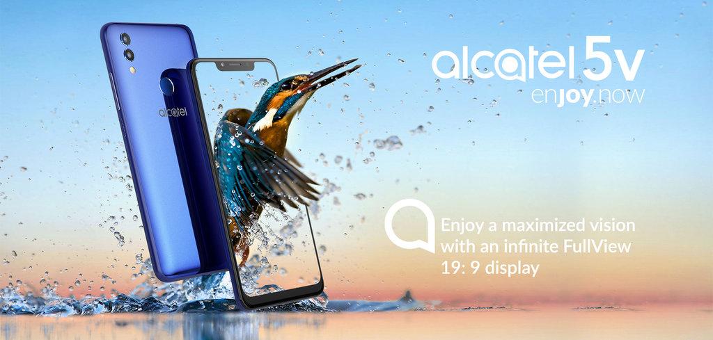 Представлен Alcatel 5V с большим экраном и емким аккумулятором