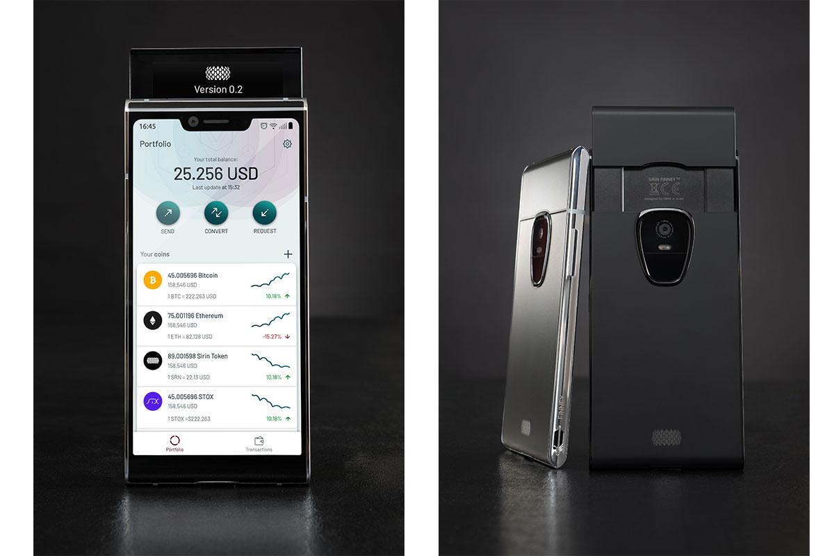 Блокчейн-смартфон Sirin Finney предложит самобытный дизайн